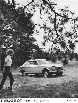 1970 Peugeot 204 Luxury Coupe ORIGINAL Factory Photo oua1584