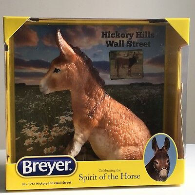 Breyer Traditional #1761 Hickory Hills Wall Street Light Brown Brighty Donkey