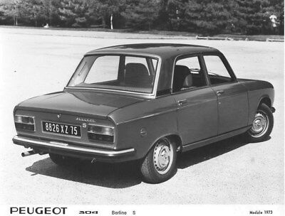 1973 Peugeot 304 Sedan S ORIGINAL Factory Photo oua1653