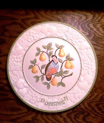 "Metlox Potteries Limited Edition Plate "" Partridge in a Pear Tree"""