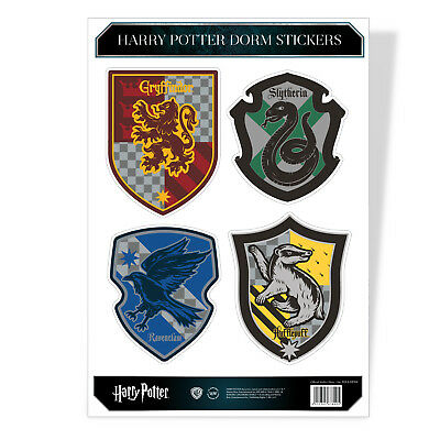 Harry Potter Wappen Crest Hogwarts Dorm 4 Sticker Sheet Stickers Aufkleber