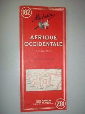 ancienne carte michelin afrique occidentale N°182