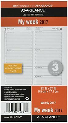 "Day Runner Weekly Planner Refill 2017, 3-3/4 x 6-3/4"", Size 3 (063-285Y)"