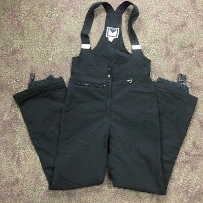 kid's used SNOW PANTS Obermeyer black with straps girls boys cold weather sz. 10