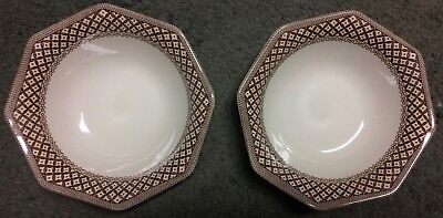 Two (2)  Royal Staffordshire Liberty Wicker Brown J&G Meakin 6 5/8 Bowls