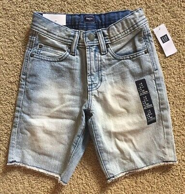 Boy's Size 6 Regular Gap Kids Light Wash Frayed Distressed Denim Jean Shorts