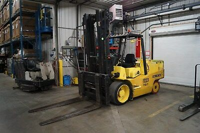 2002 Silent Hoist Lazer F180 18,000lbs Forklift HiLow Low Hours Yale Cat Hyster