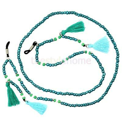 Magideal Boho Glass Beads Chain Spectacles Holder Eyeglass Strap Beaded Cord
