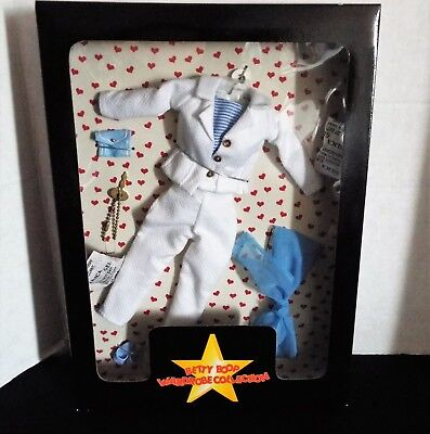 Danbury Mint ~ Betty Boop ~ Wardrobe Collection ~ Blue White Pant Suit Outfit