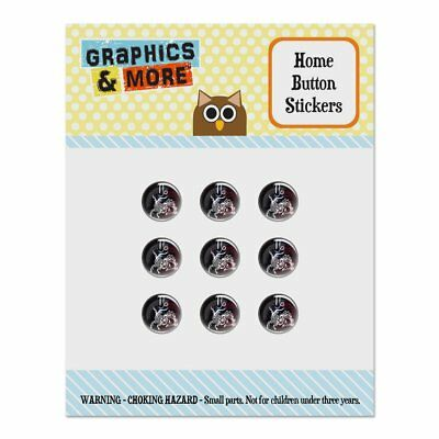 Capricorn Zodiac Sign Horoscope Space Home Button Stickers Fit Apple iPhone