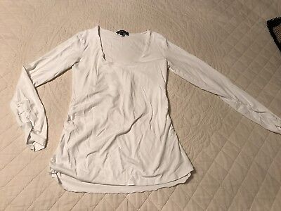 Isabella Oliver Maternity Ruched Stretch Top White Size US 10/M EU 4