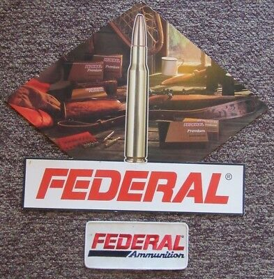 Vintage Federal Cartridge Ammunition Signs