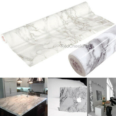 Self-Adhesive Vinyl Roll Film Grey Marble Look Contact Paper Counter Top Cabinet