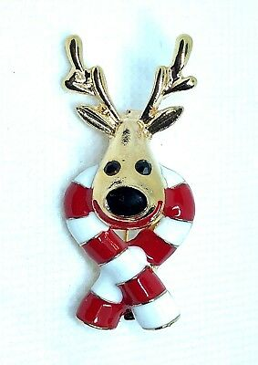 BROOCH Christmas Reindeer fashion party jewelry fungift #14 stocking stuffer