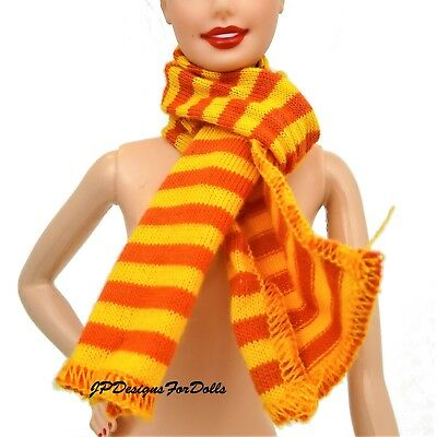 Barbie United Colors of Benetton Orange and Yellow scarf New out of Box NO DOLL