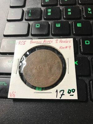 Buenos Aires 2 Reales 1855