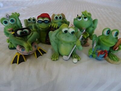Collectibles, frogs, (9) Sprogz