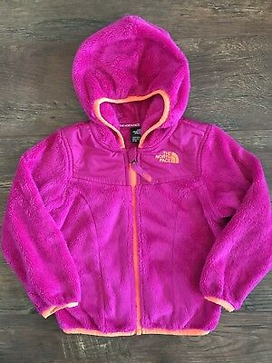 Girls THE NORTH FACE Hooded Jacket Sz 3T Bright Pink Orange AWESOME!!