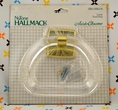 Vtg 1960s NuTone Hallmack Aristochrome Lucite Towel Ring New in Package NIP NOS