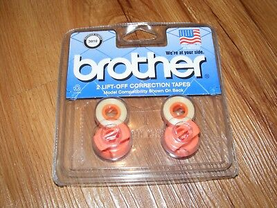 New Sealed Package Genuine OEM Brother Lift-Off Correction Tapes 2PK FREE SHIP