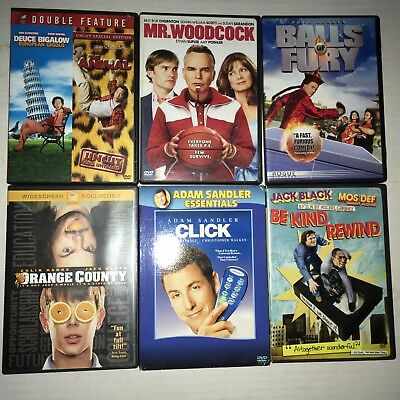 DVD Lot Action Comedy Goofy Cheesy romcom Movies 6 Total GUC