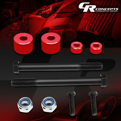 """For 2007-2017 Toyota Tundra 4Wd Pair Red 1""""front Differential Drop Kit Spacers"""