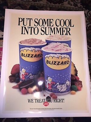 vintage Dairy Queen Put Some Cool Into Summer poster 1991