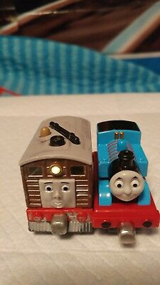 Die cast Magnetic Thomas the Train and Light up Working Toby the Steam Trolly