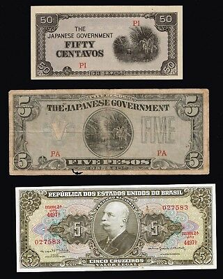 World Paper Money Bank Note Collection Lot  - #f-5