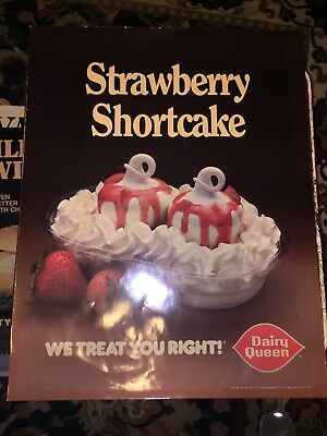 vintage Dairy Queen Strawberry Shortcake poster 1988