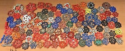 LOT of 110 ~ VINTAGE ANTIQUE WATER FAUCET KNOB/VALVE HANDLES STEAMPUNK FREE SHIP