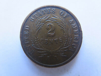 1866 USA 2 CENTS COIN in VERY NICE COLLECTABLE CONDITION & RARE