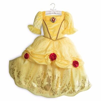 Nwt Disney Store Princess Belle Costume Dress 5/6 S 2017 Sold Out!!