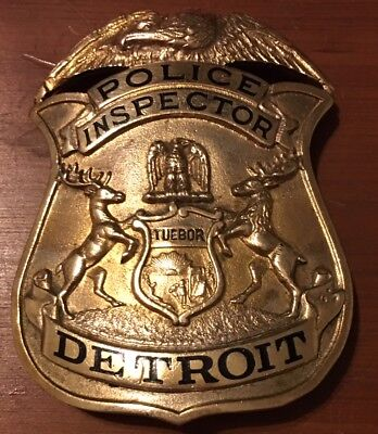 Obsolete Detroit Inspector Old Weyhing Bros Hallmarked Free Shipping