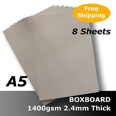 8 x BoxBoard Backing Card ChipBoard 1400gsm 2.4mm A5 100% ReCycled #B1705 #D1