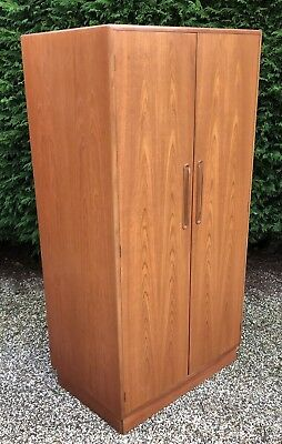 Retro Teak G Plan  Fitted 2-Door Wardrobe Clean Condition, Matching Robe Listed