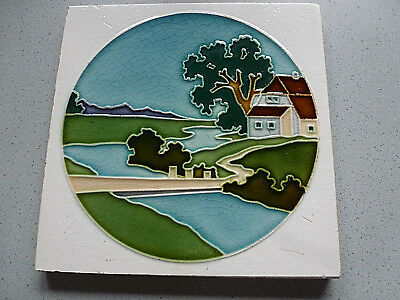 Superselten! Landschaft Wienerberger Jugendstil Fliese art nouveau tile tegel