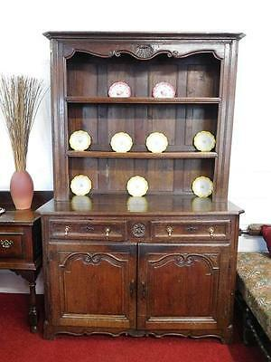 A Stunning French Provincial Antique Oak Breton Style Kitchen Dresser