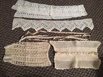 Unique Lot Of Victorian And Modern Hairpin And Crochetted Lace / Edging