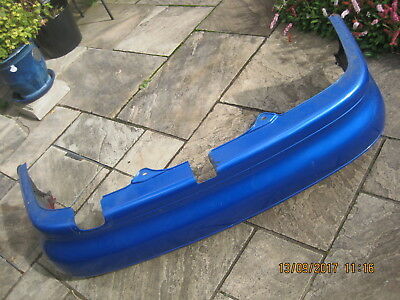 MG ZS MK1 Rear Bumper Trophy Blue. Rover 45 HATCH fit. Spares or repair