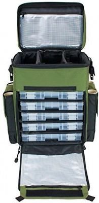 Rolling Tackle Box Fishing Storage Roll Case Portable Kit Green Elkton  Outdoors