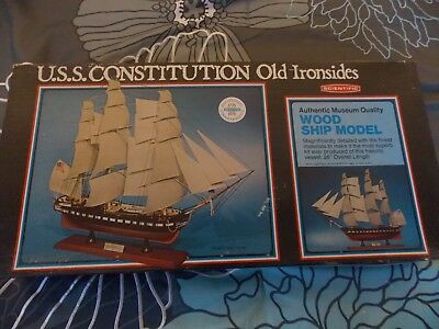 USS Constitution Wood Ship Model Old Ironsides by Scientific Kit #300