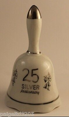 Vintage 25 Silver Anniversary Keepsake Scalloped Edge Bell