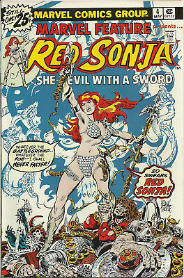 Marvel Feature V2 #4 (Marvel Comics, May 1976) 9.0 VF/NM Red Sonja