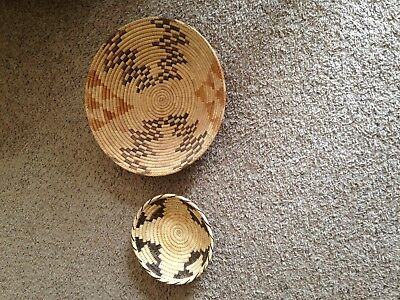 2 Older  Outstanding Southwest Baskets - Possibly  Papago