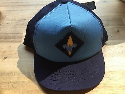 Logo blue Boy Scout Ball Cap Hat BSA Snapback S / M twill  Scouts Child NWT