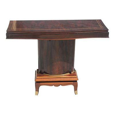 French Art Deco Palisander Console Tables by Jules Leleu, circa 1930s.
