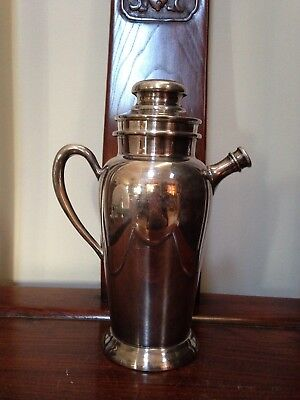 """Rare Antique/Vintage """"ACADEMY Silver on Copper 106"""" Cocktail Shaker-Good Conditi"""