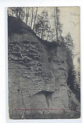 A Large Rock Near The Shades - Indiana - Vintage Postcard