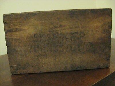 ANTIQUE VINTAGE A & p 70-80 INOLUSIVE WOODEN COMPARTMENT BOX YOUNGSTOWN OH